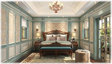 铭凤凰:美式卧室护墙板