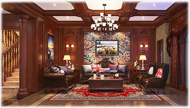 铭凤凰:美式 客厅护墙板