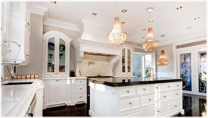 欧式白色系厨房:优雅、高贵