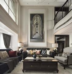 美式风格护墙板案例-株洲丽景湾私人住宅